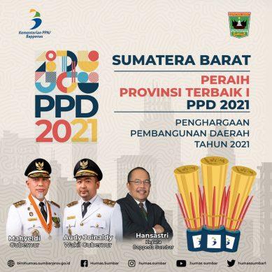 Sumatera Barat Raih Provinsi Terbaik I PPD 2021, Gubernur : Kontribusi Keberhasilan Semua