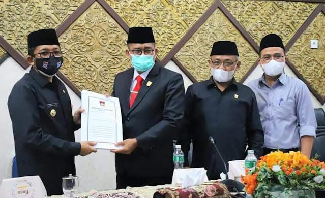 DPRD Kota Padang Dan Pemko Sepakati KUA-PPAS APBD Tahun 2022