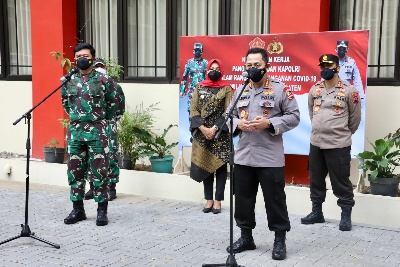 Panglima TNI Dan Kapolri Soroti Perkembangan Covid 19 Di Kabupaten Klaten