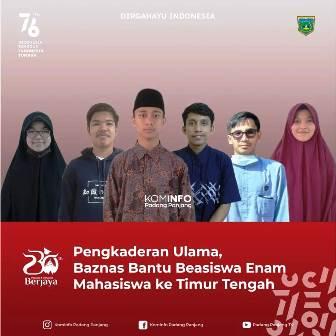 Pengkaderan Ulama, Baznas Bantu Beasiswa Enam Mahasiswa ke Timur Tengah
