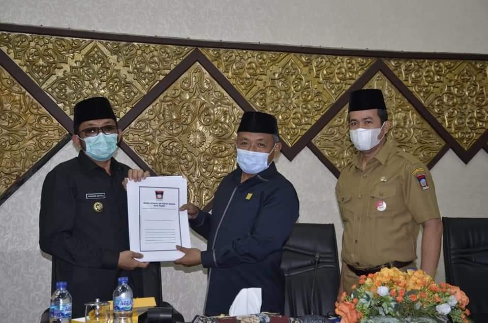 DPRD Padang Sepakati APBD Perubahan Kota TA 2021, Wako Hendri Septa Ucapkan Terima Kasih